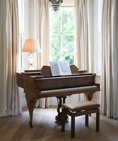 Sunny, heavily draped alcove for when I someday start playing piano again and ummm...get a piano.