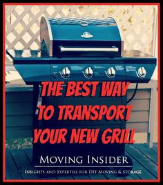 You finally bought it! Except it doesn't fit in your car. Here's how to transport your #new grill!