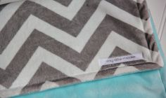 Hey, I found this really awesome Etsy listing at https://www.etsy.com/listing/129668460/chevron-minky-blanket-grey-and-aqua