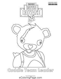 Orsett hall valentines day printable coloring pages ~ Fortnite battle royale coloring page Cuddle Team Leader ...