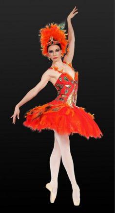 """Maria Alexandrova. principal of Bolshoi Ballet, in costume for """"The Firebird."""""""
