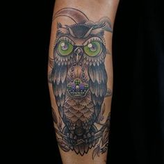 Ink Master Redemption - Owl tattoo done by artist ES. I love this tattoo!!!! ES killed his redemption piece.