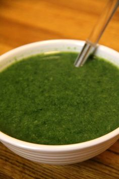 Get in two servings of vegetables with this broccoli and spinach soup!