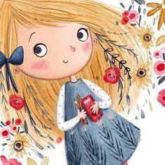 New cute illustration art girl sweets ideas Art And Illustration, Character Illustration, Cute Drawings, Cartoon Drawings, Cartoon Art, Cartoon Characters, Belle Photo, Cute Art, Art Girl