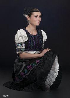 Folk costume from Pliešovce in Slovakia