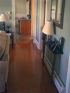 DIY narrow hall table