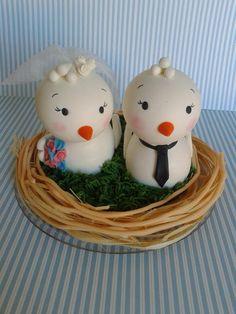 Casal de Passarinhos noivinhos no ninho. R$ 149,90