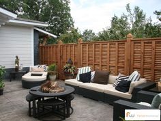Louvered Wood Privacy Fence Design | Pictures & Pricing | The Pearl™  via fenceworkshop.com