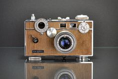 Retro camera.  This would be a great way to meet a camera thief.  Too cool.