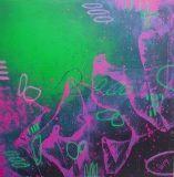 contemporary painting modern painting minimal art minimalist artwork green pink blue abstract painting canvas original wall art oil pastels #abstractart