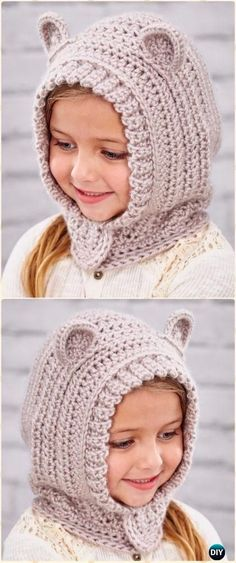 Crochet Happy Hoodie Free Pattern - Crochet Hoodie Scarf Free Patterns