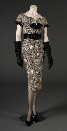 1953 ''St. Charles'' afternoon dress Jacques Fath