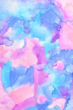 Celular watercolor rosa y azul
