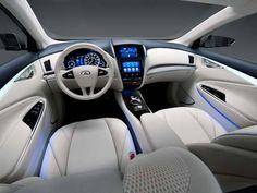 Interior do LE Concept, sedã de luxo 100% elétrico da Nissan