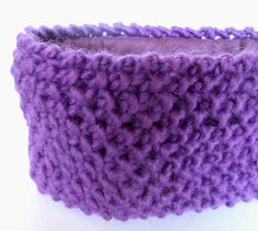 Purple fleece lined knit headband ski accessory for by Johannahats, $33.00