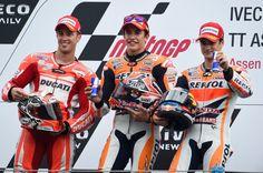 Dovizioso, Marquez, Pedrosa, Dutch MotoGP Race 2014