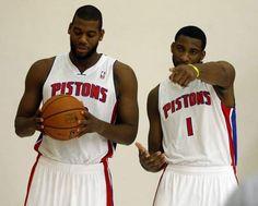 Greg Monroe and Andre Drummond - The #Detroit #Pistons future! Detroit Basketball, Detroit Sports, Andre Drummond, Detroit Pistons, Aba, 4 Life, Athletes, Lions, Football