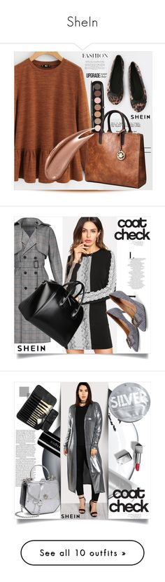 SheIn by azra-v on Polyvore featuring moda, Marc Jacobs, Givenchy, statementcoats, Clé de Peau Beauté, Illamasqua, Urban Outfitters, Burberry, plus size clothing and WithChic
