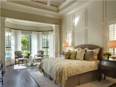 Master Bedroom at Barbados II Model by #JohnNealHomes. The Concession Luxury Home Gallery   Golf Community Homes in Sarasota - Bradenton, Florida #concessionbuilder #celebratedmoments
