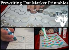 Prewriting activities don't have to be hard. Check out the Prewriting Dot Marker Printables. These are fun to use many different ways. We have been having fun doing these dot marker pages! I just love activities that use dot markers. Preschool Printables, Kindergarten Activities, Preschool Activities, Toddler School, Tot School, Early Learning, Kids Learning, Learning Time, Do A Dot
