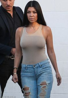 Just stopping by on business! Kourtney was seen that same day at the family studio ...