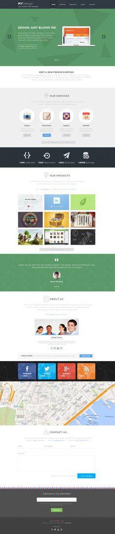 MYDesign - Onepage Multipurpose Flat WP Theme http://themeforest.net/item/mydesign-onepage-multipurpose-flat-wp-theme/5960196?ref=wpaw #onepage #design #wordpress