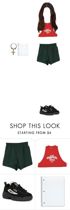 """""""."""" by mooniverse ❤ liked on Polyvore featuring Fila"""