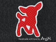 Aufnäher - Aufnäher Reh ♥ Applikation Rehkitz ♥ Kitz - ein Designerstück von AnCaNi bei DaWanda