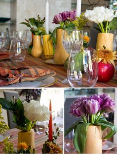 LOVE the squashy guys as vases. They're perfect!