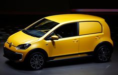 The new Volkswagen 2load-up is displayed during a preview by the Volkswagen Group prior to the 65th Frankfurt Auto Show