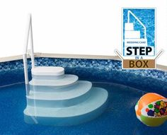 wedding cake style pool step