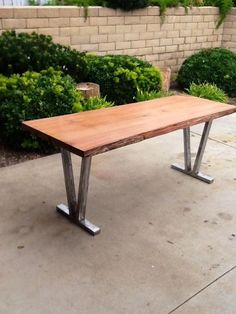 Custom Made Live Natural Edge Old Growth Redwood Dinning Table