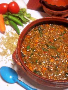 Sopa de Lentejas (Lentil Soup) Again not a crock pot recipe but I think it could be easily adapted.