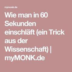 Wie man in 60 Sekunden einschläft (ein Trick aus der Wissenschaft)   myMONK.de