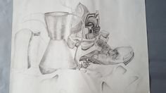 GRAPHITE/PENCIL TONAL STILL-LIFE STUDY