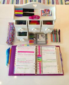 Journalling set up; color coding on ruler