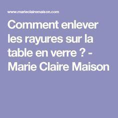 Comment enlever les rayures sur la table en verre ? - Marie Claire Maison