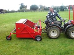 Sweeper / Collector for manure in horse paddocks, leaf collection and operation on both grass and hard surfaces. Horse Paddock, Horse Manure, Kubota, Horse Love, Lawn Mower, The Collector, Outdoor Power Equipment, Yard Tools, Flat Bed