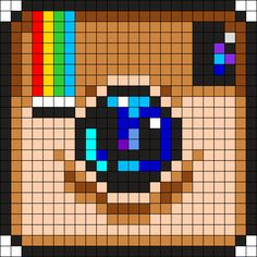 Know These Ideas When You Reach For A Camera! *** You can find more details by visiting the image link. Beaded Cross Stitch, Cross Stitch Embroidery, Cross Stitch Patterns, Cross Stitching, Pearler Bead Patterns, Perler Patterns, Pixel Art Minecraft, Crochet Pixel, Modele Pixel Art
