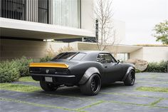 #BecauseSS 67 CHEVROLET CAMARO SS TRANSFORMERS BUMBLEBEE matte black and yellow spoiler pro touring