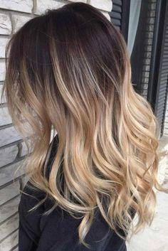 Cabelo Ombre Hair, Balayage Hair Blonde, Brown Blonde Hair, Balayage Ombre, Haircolor, Blonde Dip Dye Hair, Dark Roots Blonde Hair Balayage, Baliage Hair, Short Balayage