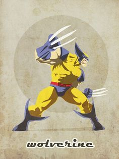 Wolverine Poster. superhero poster that would look cute as decor, rather than cheap