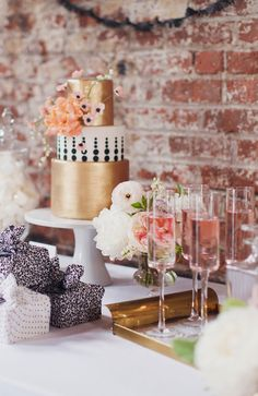 gorgeous gold and blush | Chanel Meets Brooklyn | by Lael Cakes