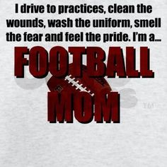 Football mom quote