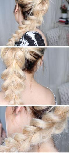 pull trough braid tutorial hiilen sminkblogg skönhetsblogg frisyr hår tips