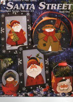 Santa Street Volume 14 -Painting Book - Over 16 Christmas Designs  Patterns Included  - CraftySupplyAddict