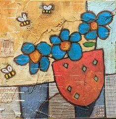 Handmade Design, Handmade Art, Pastel Crayons, Using Acrylic Paint, Canvas Designs, Mixed Media Painting, Rug Hooking, Wood Art, Creative Art
