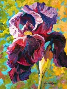 pax-caelestis:    Iris Study Painting  - Marion Rose