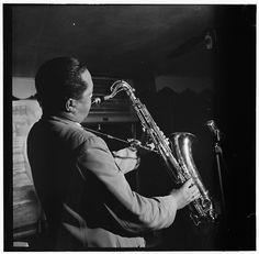 William Gottlieb - Portrait of Lester Young, Spotlite (Club), New York, N.Y. (c1946)