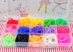600 bands Y hook LOOM BANDS LEOPARD DESIGN available 5 colours. 24 clips